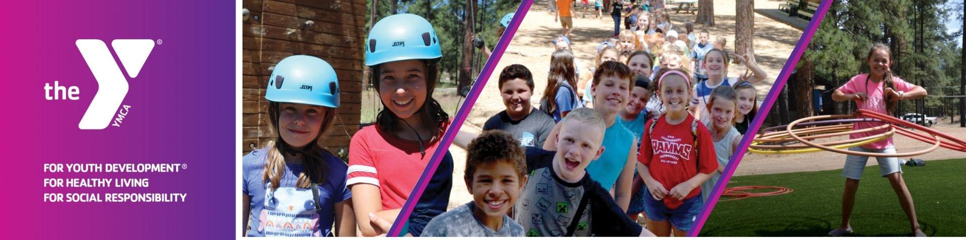 variety of photos of kids at camp