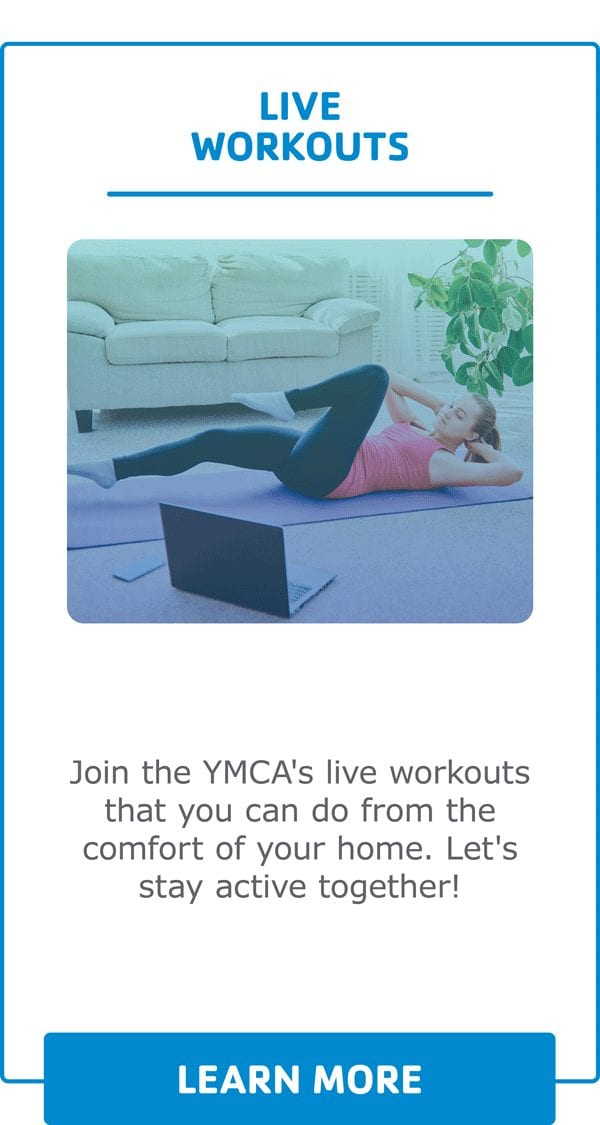 Virtual Y Webpage Images on demand live workouts