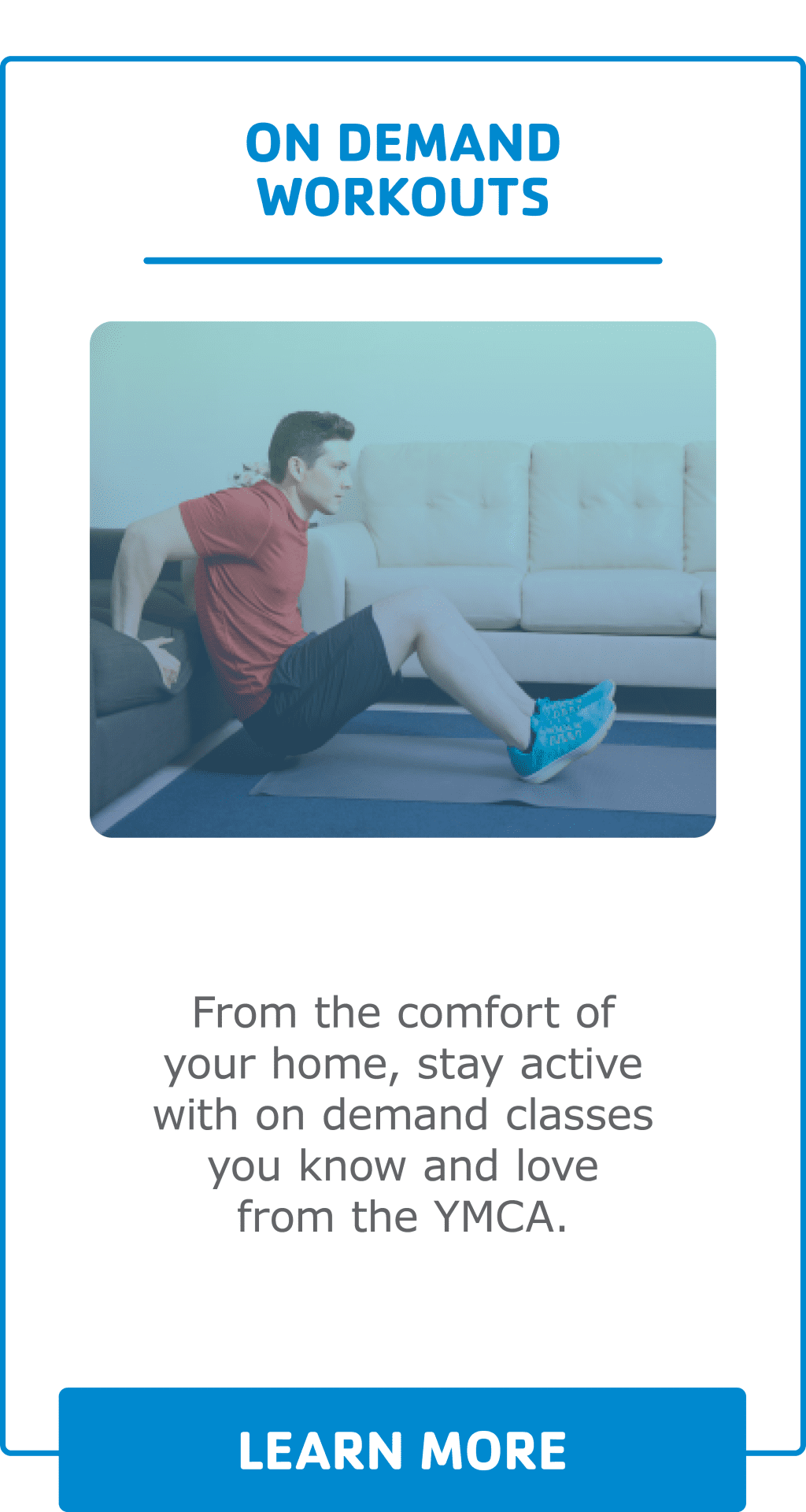 Virtual Y Webpage Images on demand live workouts2