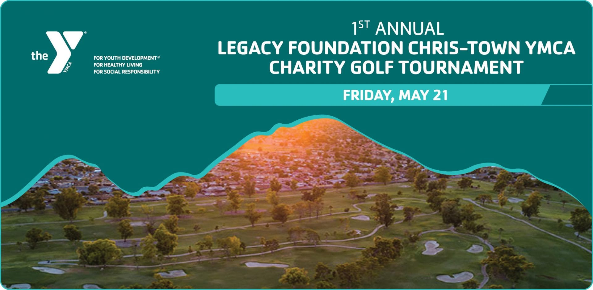 1st annual golf tournament graphic