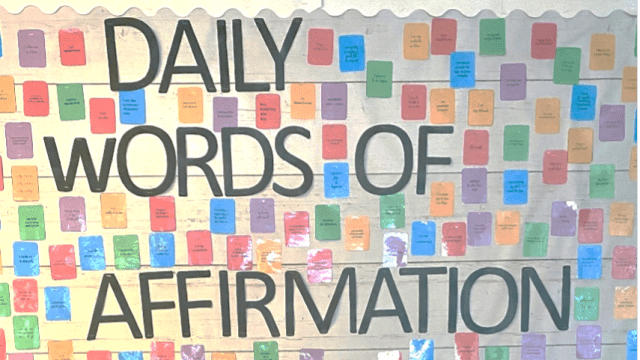 Wall decorations that say daily words of affirmation