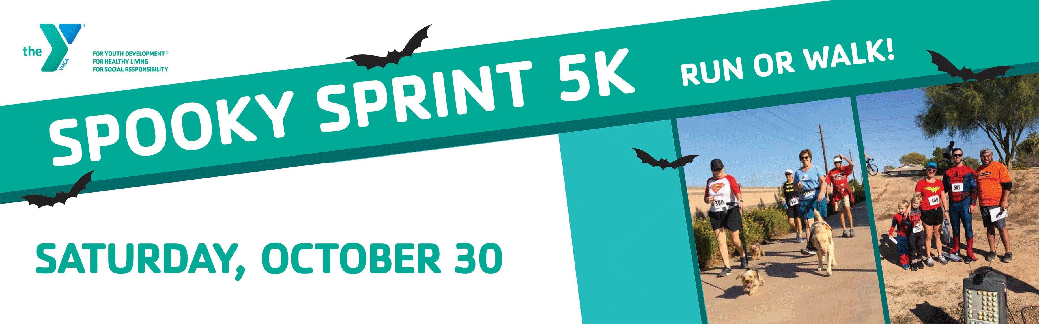 Tempe Spooky Sprint 2021 Event Website Banner 3